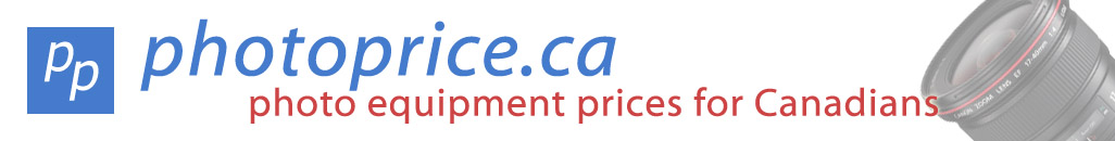 photo equipment prices for Canadians